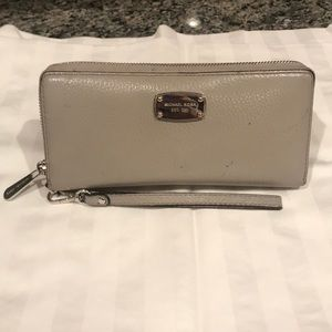 Michael Kors Gray and Silver Clutch Wallet